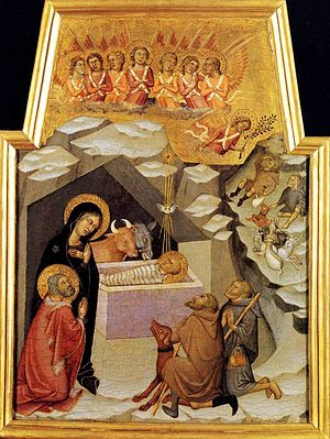 Bartolo di Fredi - Image: Bartolo di Fredi. Nativity and Adoration of Shepherds 1383