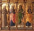 Bartolomeo vivarini e bottega, natività tra santi e cristo in pietà, 02.jpg