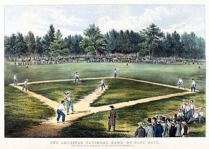 Elysian Fields, Hoboken, New Jersey - Image: Baseball 1866