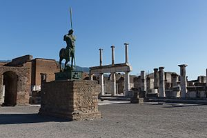 Historic site - One of the best known historic sites in Europe, the ancient Roman city of Pompeii.