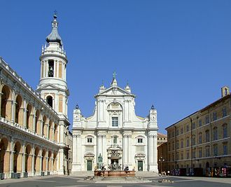 Basilica della Santa Casa - The façade edifice of the Basilica della Santa Casa.