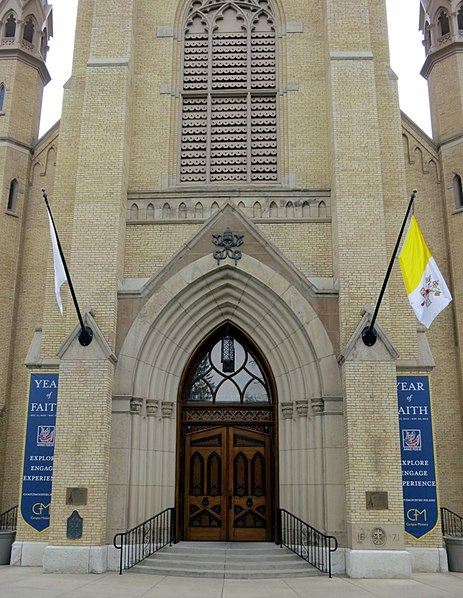 File basilica of the sacred heart notre dame indiana for Exterior notre dame