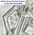 Bastion de la porte Saint-Antoine wur plan Quesnel de 1609.png