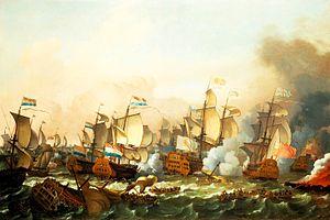 Action at Barfleur - Image: Bataille de Barfleur en 1692