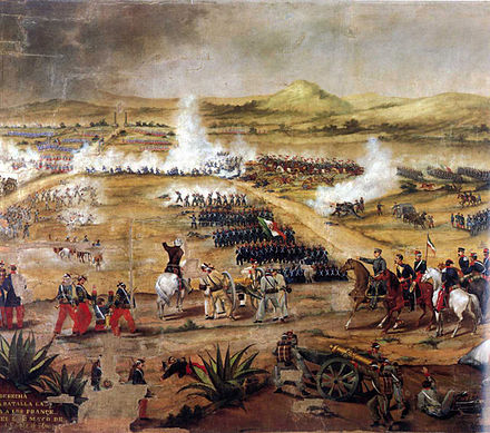 Battle of Puebla, 5 May 1862 Batalla del 5 de mayo de 1862.jpg