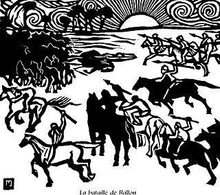 Battle of Ballon Ninth-century battle in France