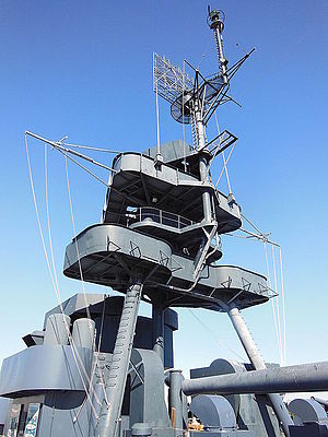 Tripod mast - Tripod mast on the USS ''Texas'' (BB-35)