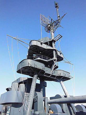 Tripod mast - Tripod mast on the USS Texas (BB-35)