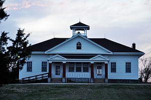 Bazaar, Kansas - old Bazaar schoolhouse