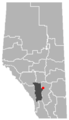 Beiseker, Alberta Location.png