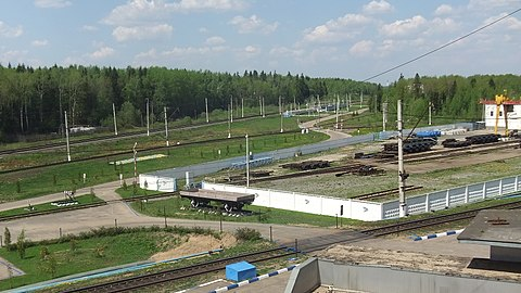 Bekasovo-Tsentralnoe (view from Central Post of Control).JPG