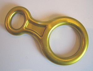 Rock-climbing equipment - A figure eight descender