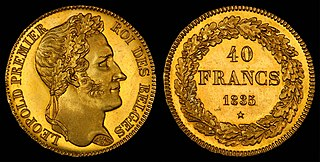 Belgian franc currency of the Kingdom of Belgium from 1832 until 2002
