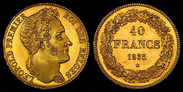 40 Belgium Francs, 1835