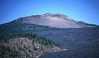 Belknap Crater - Belknap shield volcano with lava flows in foreground