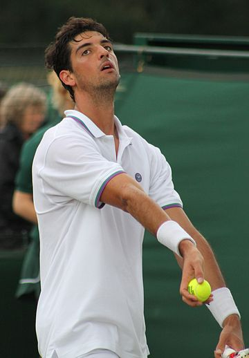 Bellucci at 2014 Wimbledon qualifying Bellucci WMQ14 (10) (14420463289).jpg