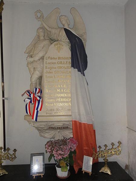Belrupt-en-Verdunois (Meuse) église, monument aux morts