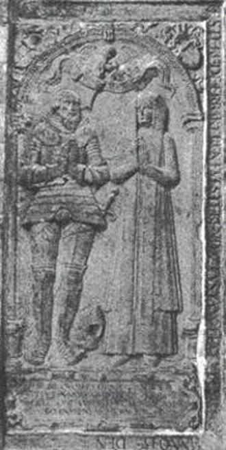 Ahlefeldt (noble family) - Image: Benedikt von Ahlefeldt (1492 1513)