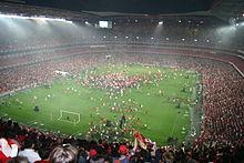 Celebration of the 2004–05 league title at the Estádio da Luz