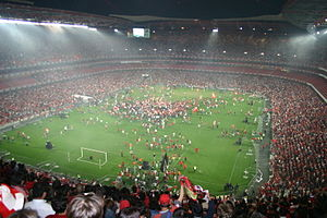 S.L. Benfica - Celebration of the 2004–05 league title at the Estádio da Luz