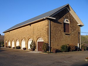 National Register of Historic Places listings in Solano County, California - Image: Benicia Arsenal Camel Barn, 2024 Camel Rd., Benicia, CA 4 21 2013 6 57 08 PM