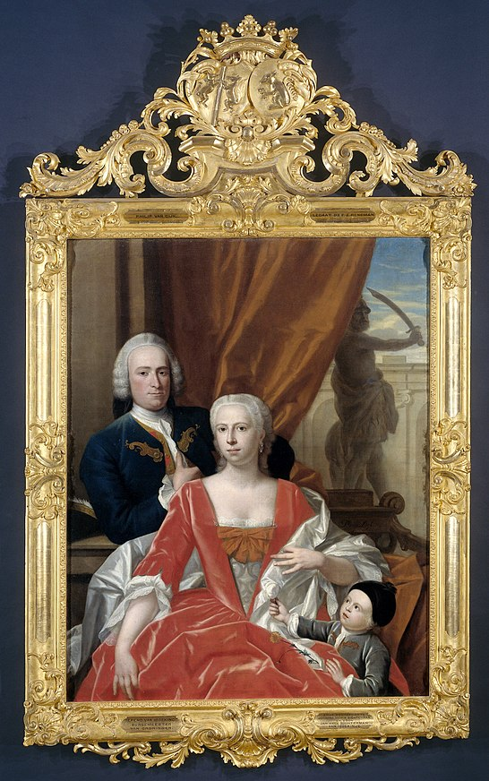 Berend van Iddekinge with his Wife and their Son