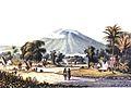 Berg Salak, gezien van de weg van Buitenzorg naar Dramaga.jpg
