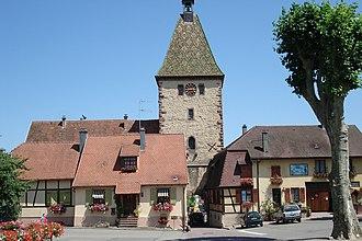 Bergheim, Haut-Rhin - Porte Haute (Upper Gate) in Bergheim