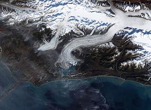 Bering Glacier - Terminus of Bering Glacier, September 29, 2002