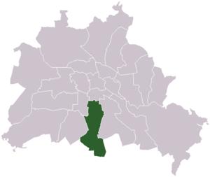 Lage des ehemaligen Bezirks Tempelhof in Berlin