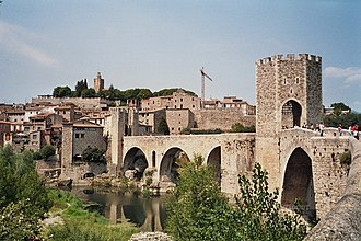 County of Besalú - The medieval remains of Besalú. The bridge dates to the twelfth century.
