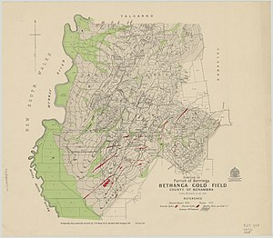Bethanga, Victoria - Portion of parish of Berringa, Bethanga gold field, county of Benambra / geologically and topographically surveyed by J.P.L Kenny, B. C. E Assistant Field Geologist, 1908.