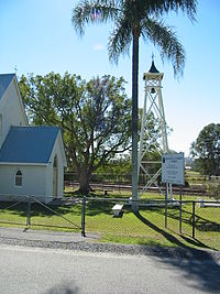 Bethania Lutheran Church and bell tower, 2005.JPG