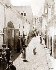 A crowded street in Bethlehem, 1880