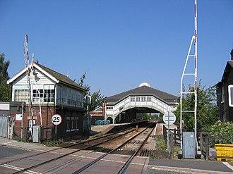 Beverley railway station - Beverley railway station, signal box and Chantry lane crossing (2005)