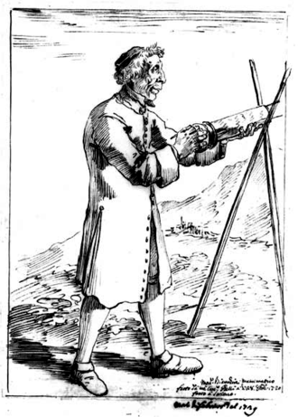 Francesco Bianchini - Francesco Bianchini holding the eyepiece mount of an aerial telescope
