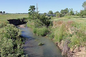 Big Dry Creek (Westminster, Colorado) - The creek just north of West 120th Avenue.