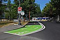 Bike lane markings on Wheeler Ave south of Rose Qtr TC - Portland Oregon 2013.jpg