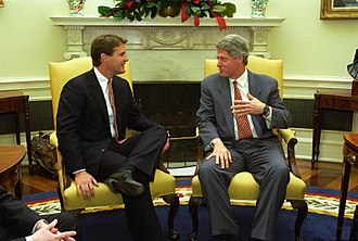 Evan Bayh - Bayh with President Bill Clinton in 1993