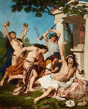 Émile Bin - The Death of Orpheus (1874)