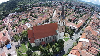 Bistrița - Image: Biserica evanghelică.C.A