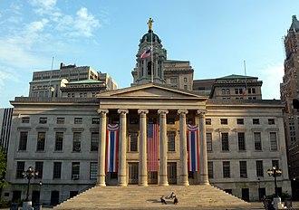 Brooklyn Borough Hall - Image: Bk Boro Hall summer dusk jeh