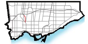 Black Creek Drive - Image: Black Creek Dr map