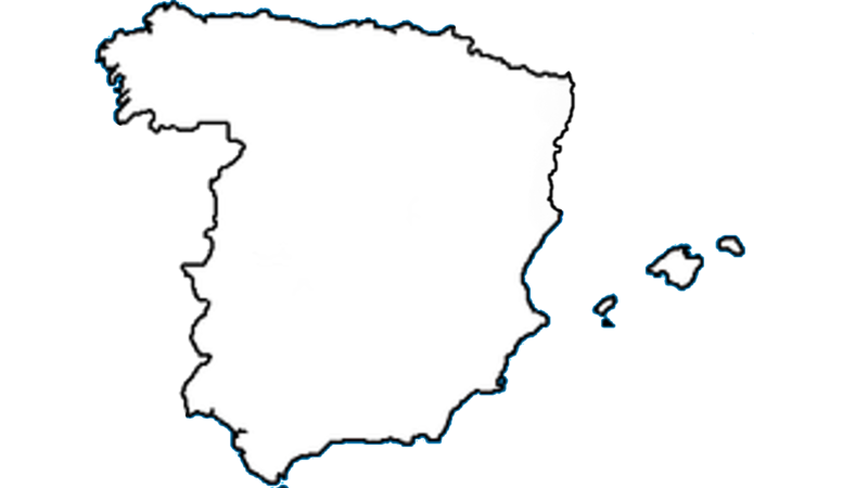 Map Of Spain Blank.File Blank Map Of Spain Without Catalonia Png Wikimedia Commons