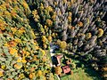 Blatnica Castle forest drone.jpg