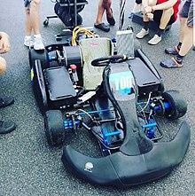 Blue Shock Race Worlds Fastest Electric Sports Kart Jpg