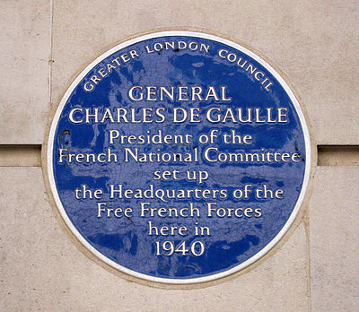 One of more than 800 Blue Plaques throughout London