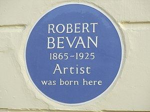 Robert Bevan - Blue plaque for Robert Bevan in Hove