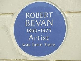 Robert Bevan - Blue plaque for Robert Bevan in Hove