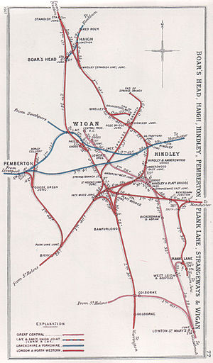 Lancashire Union Railway - Lines around Wigan in 1907